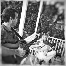 Front porch practice. Photo by Dale Ann Clancy