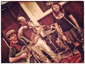Special guest Dale Ann Clancy. Photo by Dale Ann Clancy. We played this show on a bar built on a hill.